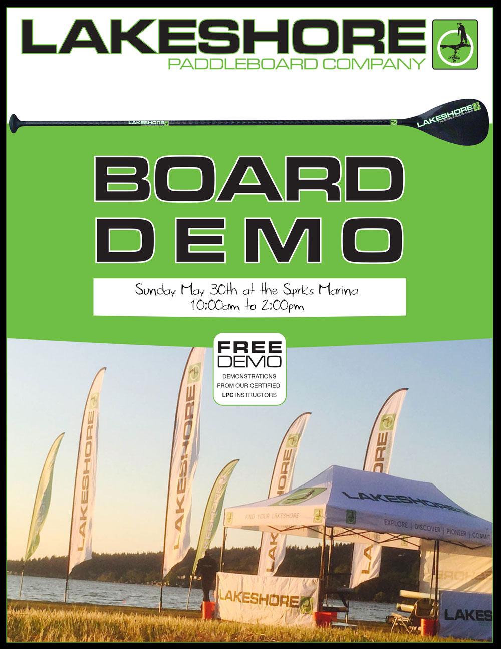 Scheels SUP board Demo Day at Sparks, NV. Marina