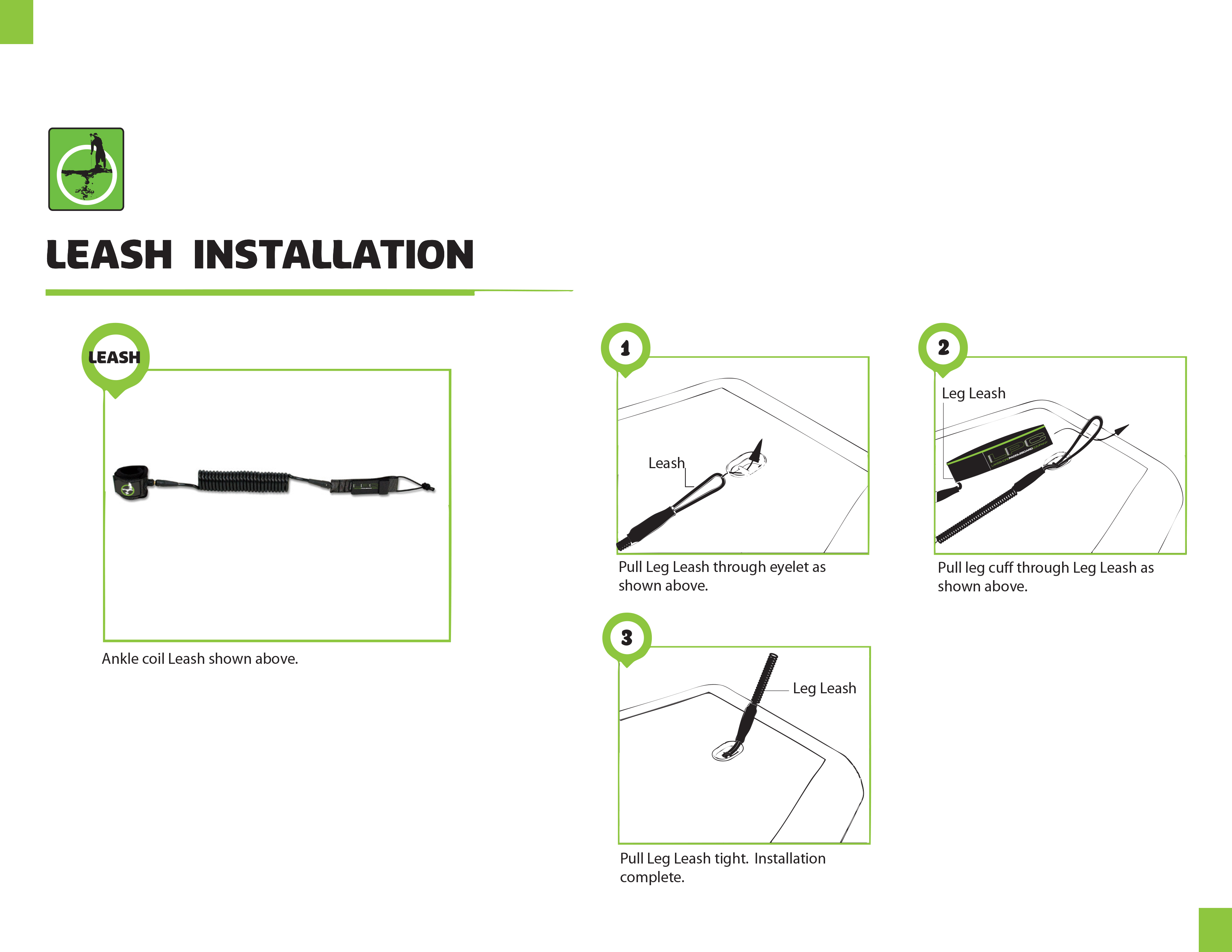 How to install your new leash!